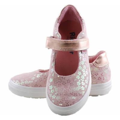 Rózsaszín, kisvirágos, pántos, lányka Richter balerina