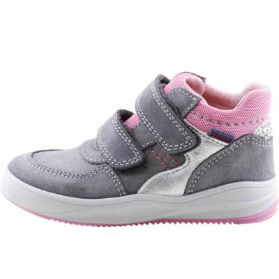 Szürke-rózsaszín, ezüst, hajlékony talpú cipő