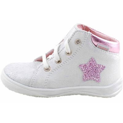 Ezüst, rózsaszín, csillogó csillagos, hajlékony talpú, Richter cipő