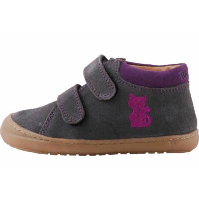 Szürke, pink cicás, extra hajlékony talpú, Richter cipő