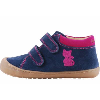 Kék, pink cicás, extra hajlékony talpú, Richter cipő
