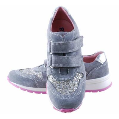 Szürke-rózsaszín, csillogós, Richter, lányka cipő