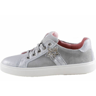 Ezüst, csillagos, fűzős, cipzáras, Richter cipő