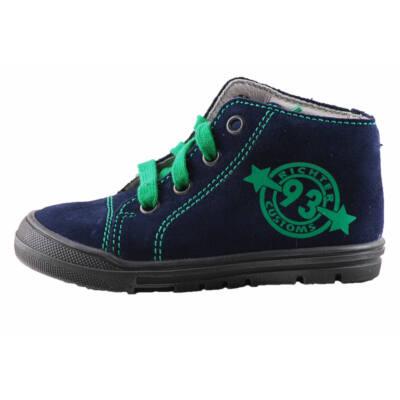 Richter sötétkék, zöld számmal díszített fűzős átmeneti cipő