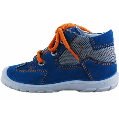 Középkék-szürke, narancs fűzős superfit cipő
