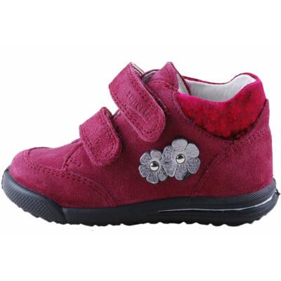 Bordó virágos, keskeny, Superfit kislány cipő