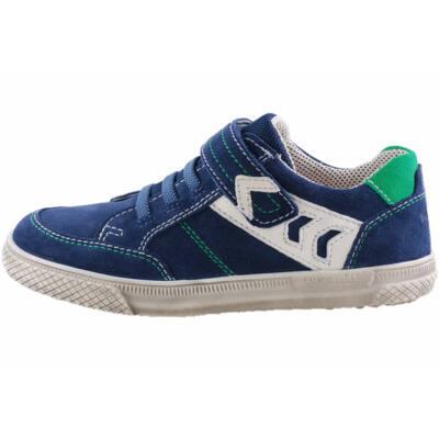 Sötétkék, zöld varrású, gumifűzős, tépőzáras, Superfit cipő