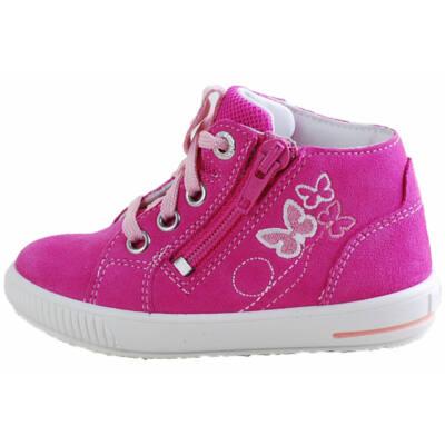 Pink, fűzős-cipzáras, pillangós Superfit cipő