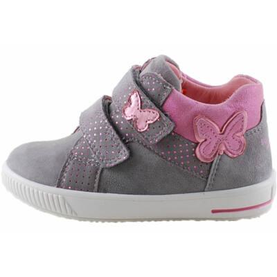 Superfit rózsaszín fehér, fűzős átmeneti cipő