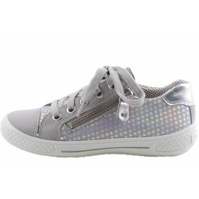 Szürke, ezüst csillagos, fűzős, cipzáras, Superfit cipő
