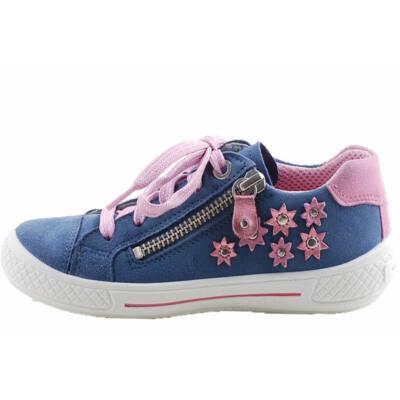 Középkék, virágos, Superfit cipő