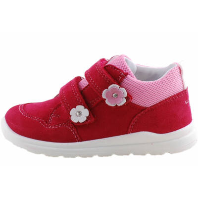 Meggybordó, virágos, Superfit cipő