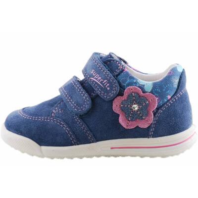 Kék, rózsaszín virágos, keskeny, Superfit cipő