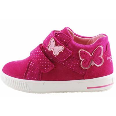 Sötétciklámen pillangós, kislány, Superfit cipő