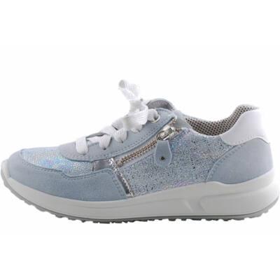 Világoskék, ezüst, fűzős, cipzáras, Superfit cipő