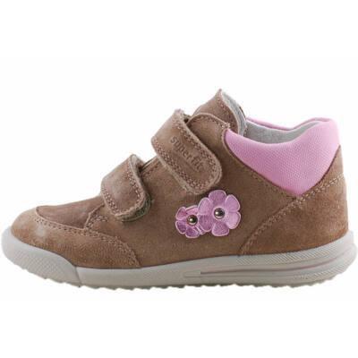 Bézs, 2 rózsaszín csillogó virágos, keskeny, Superfit cipő