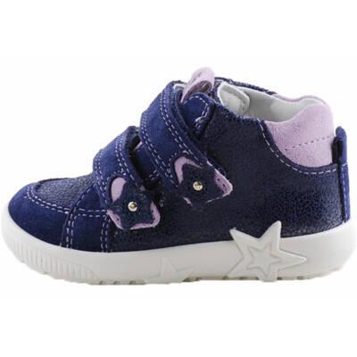 Csillogós kék-lila,  csillagos Superfit kislány cipő