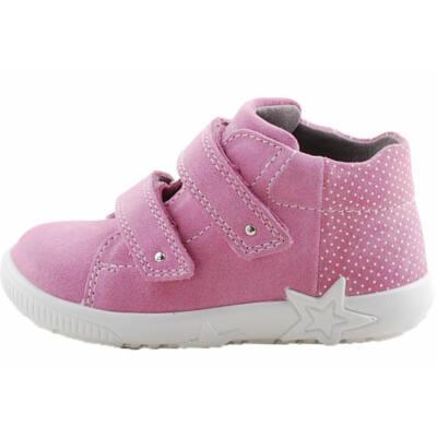 Csillogó rózsaszín, fehér pöttyös, csillagos Superfit cipő