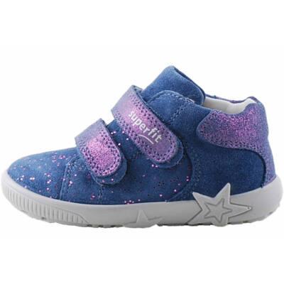 Kék, rózsaszín csillogós pöttyös, Superfit cipő