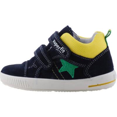 Sötétkék-sárga, zöld csillagos, hajlékony talpú, Superfit cipő