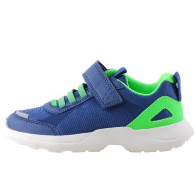 Kék-neonzöld, gumifűzős, tépőzáras, Superfit edzőcipő