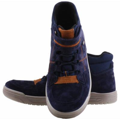 Sötétkék-barna, vízálló, Gore-Tex, magasszárú, Superfit cipő