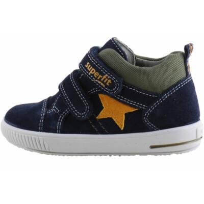 Sötétkék-zöld, mustár csillagos, Superfit cipő