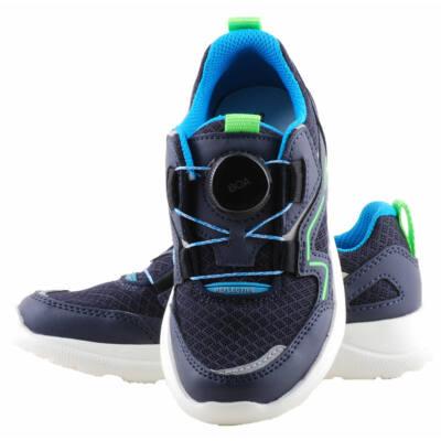 Sötétkék, neon, tekerős-fűzős, Superfit edzőcipő
