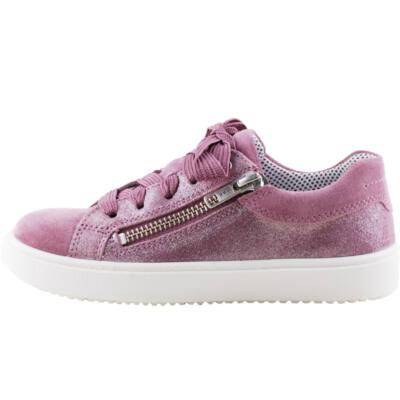 Padlizsán, fűzős-cizáras, lányka, Superfit cipő