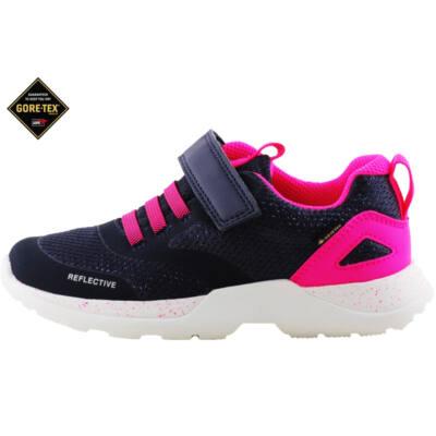 Sötétkék-pink, csillogós, Gore-Tex, vízálló, Superfit edzőcipő