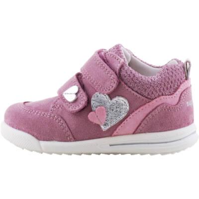 Padlizsán-rózsaszín, ezüst szívecskés, keskeny, Superfit cipő