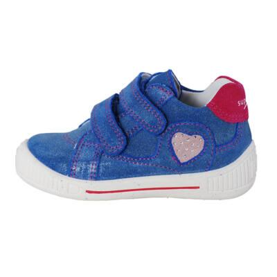 Superfit kék csillogós, szivecskés átmeneti cipő