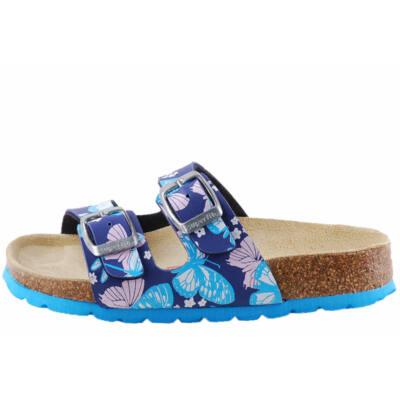 Kék-rózsaszín, pillangós, 2 csatos, Superfit papucs