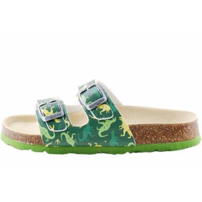 Zöld, dínós, 2 csatos, Superfit biopapucs