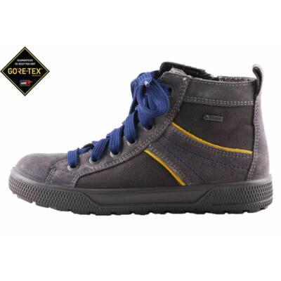 5bef7b169f9f Superfit szürke, sárga csíkos, kék fűzős, gore-tex, vízálló, cipáras cipő