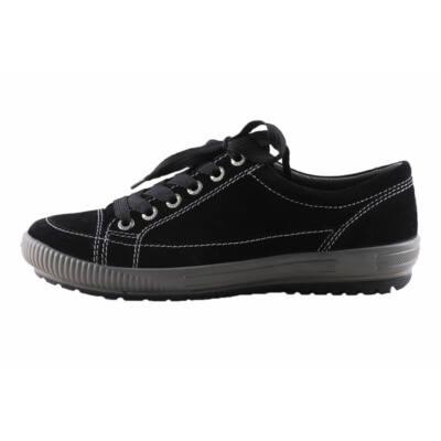 Legero fekete, szürke talpú, fűzős, átmeneti cipő