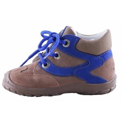 Superfit világosbarna-indigókék, fűzős, bőr cipő