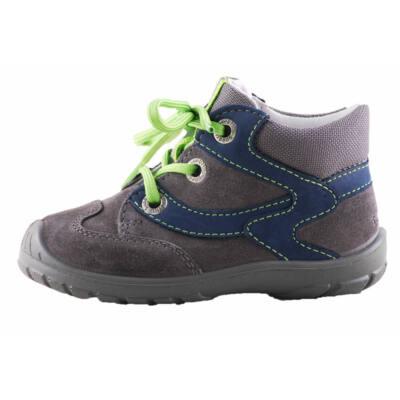 Superfit sötétszürke-kék, zöld fűzős, átmeneti cipő