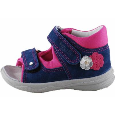 Kék, pink-ezüst virágos, keskeny, Superfit szandál