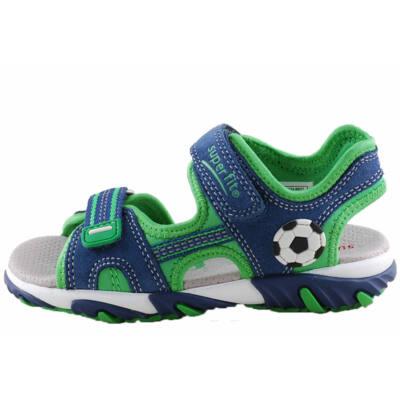 Kék-zöld, focilabdás, átvezetőpántos, Superfit szandál