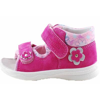 Pink-rózsaszín kisvirágos, keskeny, Superfit szandál