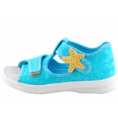 Kék, csillogós, tengericsillagos, vászon Superfit szandál