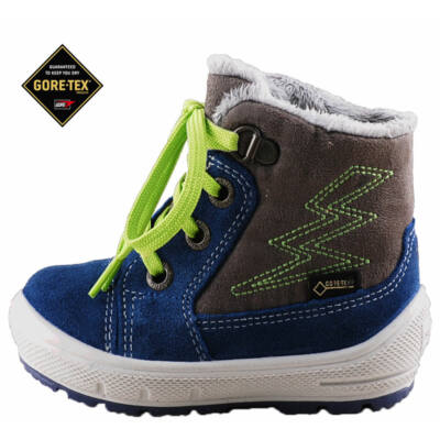 Kék-szürke-zöld fűzős, Gore-Tex, vízálló, Superfit bakancs