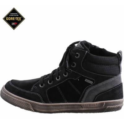 Fekete, bundás, cipzáras-fűzős, vízálló, Gore-Tex, Superfit cipő
