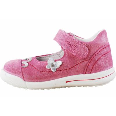 Rózsaszín, csillogós, pillangós, keskeny Superfit cipő