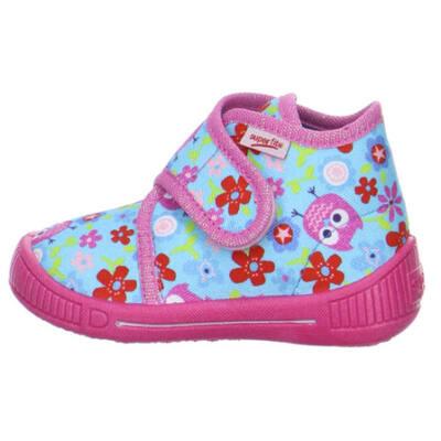 Superfit kék-rózsaszín, baglyos vászoncipő