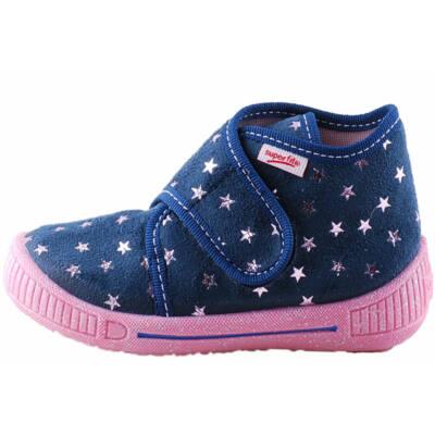 Sötétkék, rózsaszín, csillagos Superfit vászoncipő