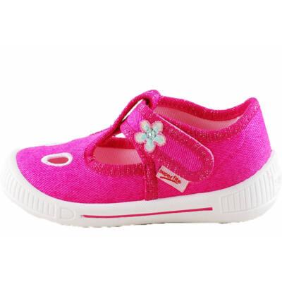 Ciklámen, virágos, nyitott, Superfit vászoncipő