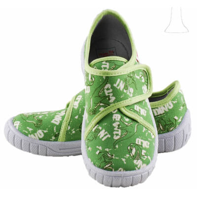 Zöld, dínós, Superfit vászoncipő