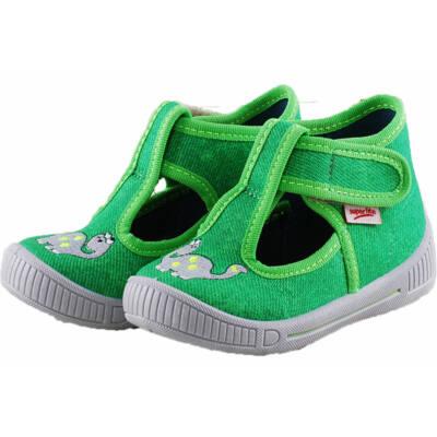 Zöld dínós, nyitott, Superfit vászoncipő